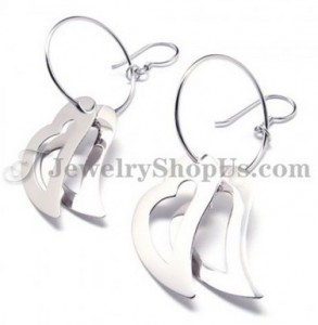 925 Silver Earrings (Electroplating platinum)