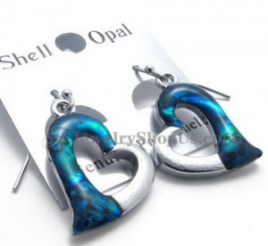 Fine Alloy Earrings with Shell
