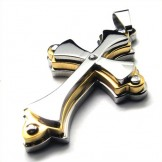 there-layers-cross-titanium-pendant-gloden-18860