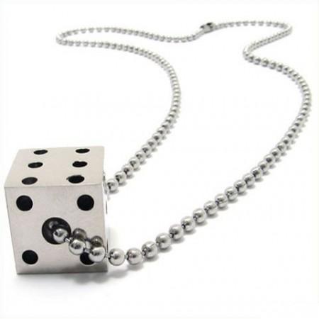 Cool man solid dice pure titanium necklace pendant new 10523 cool man solid dice pure titanium necklace pendant new 10523 aloadofball Images