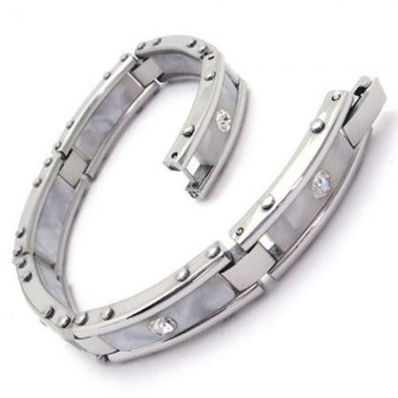 Pure Silver Bracelets For Men Men White Silver Pure Titanium