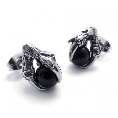 Claw Black Gem Anium Earrings 20474