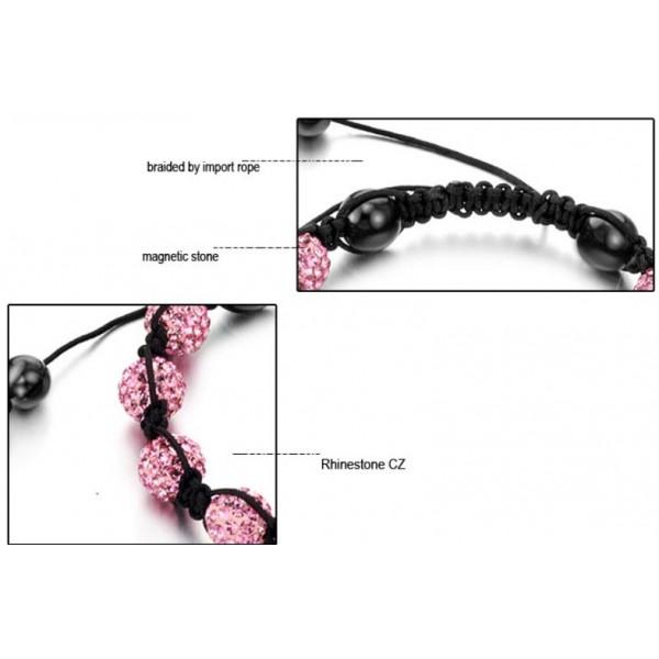 stable quality female ball shape crystal bracelet